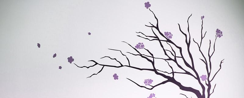 Dekorativne nalepke z motivi narave