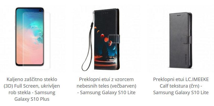 Zaščitno steklo in etuiji za Samsung